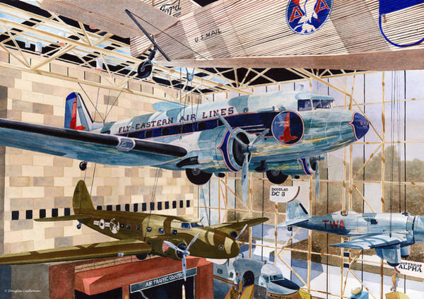 Painting - National Air And Space Museum by Douglas Castleman