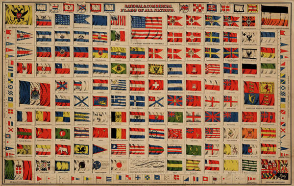 Wall Art - Painting - National And Commercial Flags by Colton