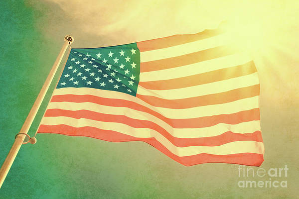 Star-spangled Banner Wall Art - Photograph - National Day by Delphimages Photo Creations