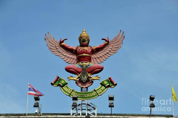 Photograph - National Emblem Seal Garuda Of Royal King Of Thailand by Imran Ahmed