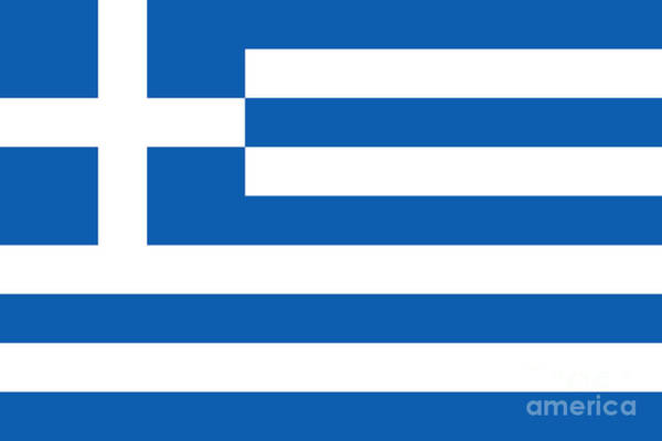 Wall Art - Digital Art - National Flag Of Greece Authentic Version by Bruce Stanfield