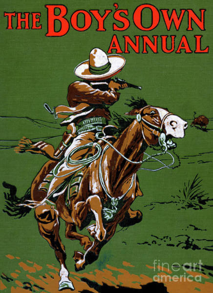 Wall Art - Painting - National Frontier Police Of Mexico  Cover The Boy's Own Annual by Stanley L Wood