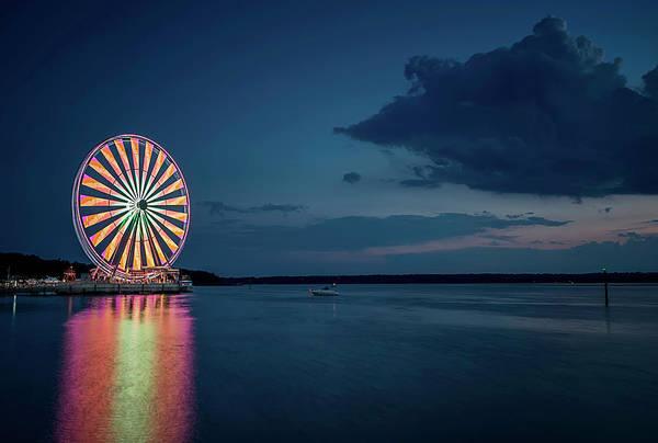 Photograph - National Harbor Ferris Wheel by Ryan Wyckoff