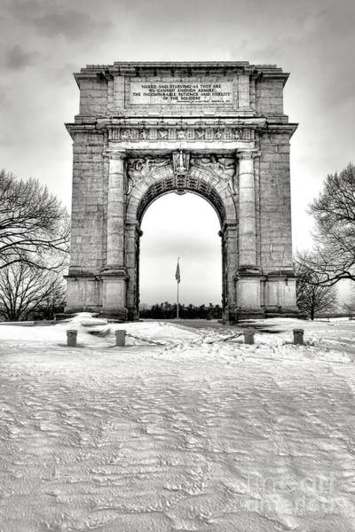 Forge Wall Art - Photograph - National Memorial Arch In Winter by Olivier Le Queinec