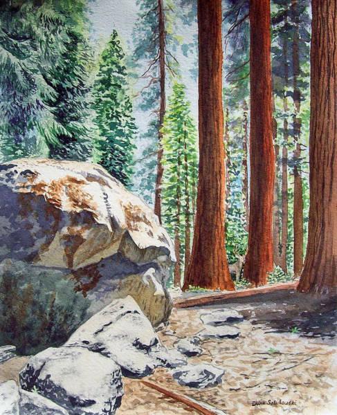Huge Painting - National Park Sequoia by Irina Sztukowski