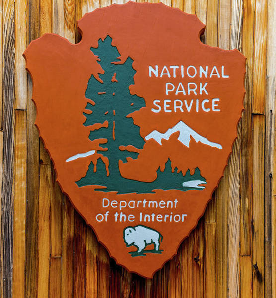 Photograph - National Park Service Sign by Brian MacLean