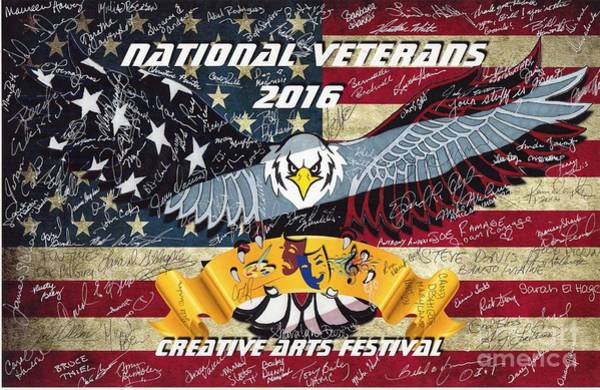 Drawing - National Veterans Creative Arts Festival by Bill Richards