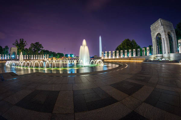 Photograph - National Wwii Memorial by Chris Bordeleau