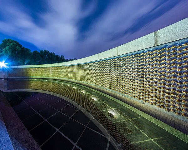 Photograph - National Wwii Memorial Reflections by Chris Bordeleau
