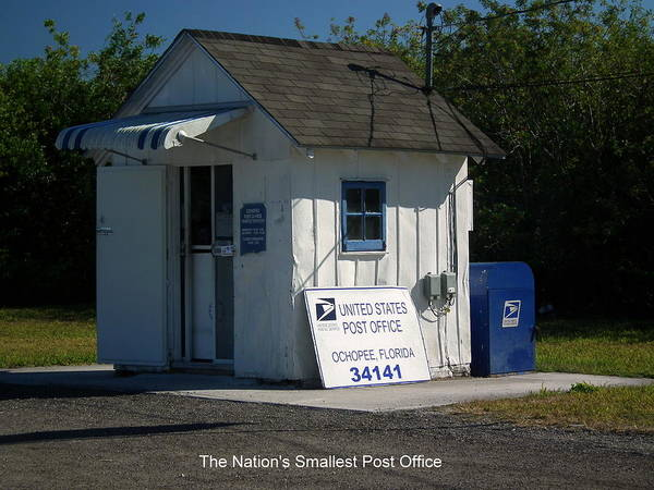 Alligator Alley Photograph - Nations Smallest Post Office by Wayne Skeen
