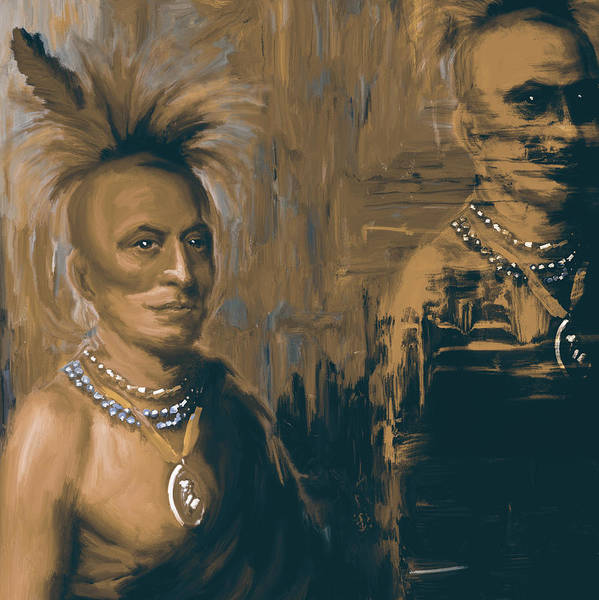 Red Ball Painting - Native American 273 4 by Mawra Tahreem