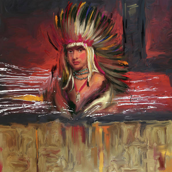 Red Ball Painting - Native American 277 1  by Mawra Tahreem