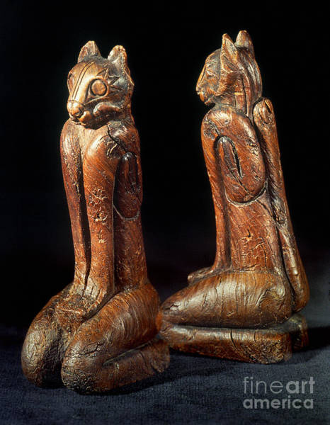 Photograph - Native American Carvings by Granger