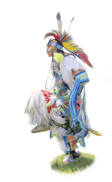 Digital Art - Native American Dancer by Ramona Murdock