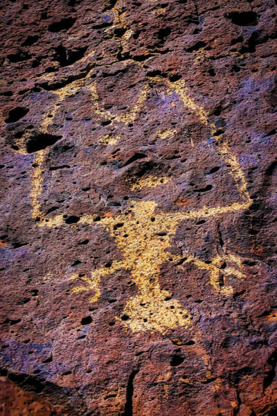 Pictograph Photograph - Native American Drawing On Rock by Garry Gay