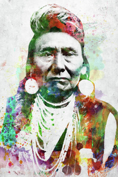 Indigenous Digital Art - Native American Indian 1 by Mihaela Pater