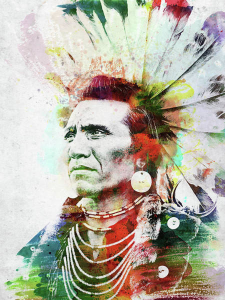 Indigenous Digital Art - Native American Indian 2 by Mihaela Pater