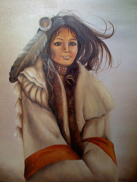 Wall Art - Painting - Native American Indian  by Pam Hinds