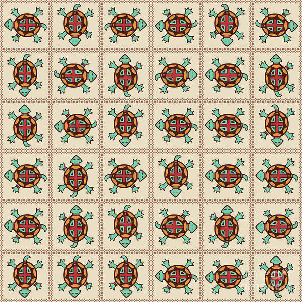 Tribal Digital Art - Native American Pattern by Gaspar Avila