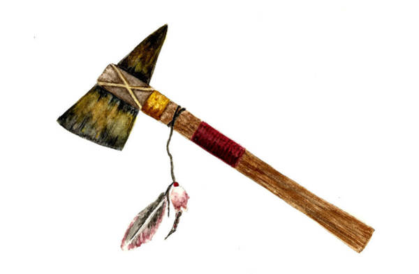 Weapon Painting - Native American Tomahawk by Michael Vigliotti