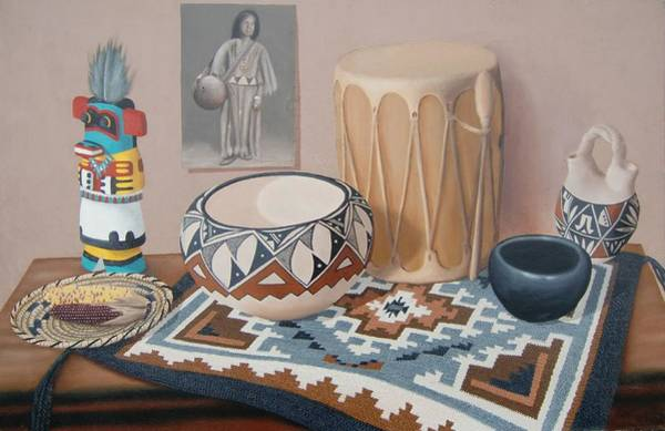 Painting - Native American Treasures Nr. 10 by Philipp Merillat