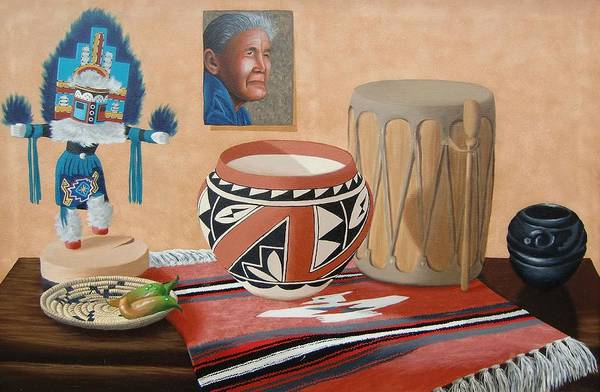 Painting - Native American Treasures Nr. 7 by Philipp Merillat