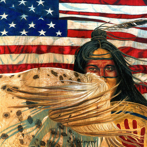 Native Mixed Media - Native Americans  by Cat Culpepper