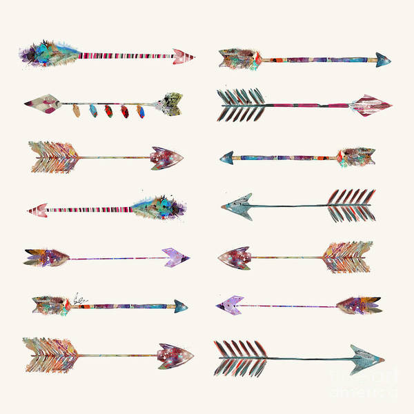 Native American Wall Art - Painting - Native Arrows by Bri Buckley