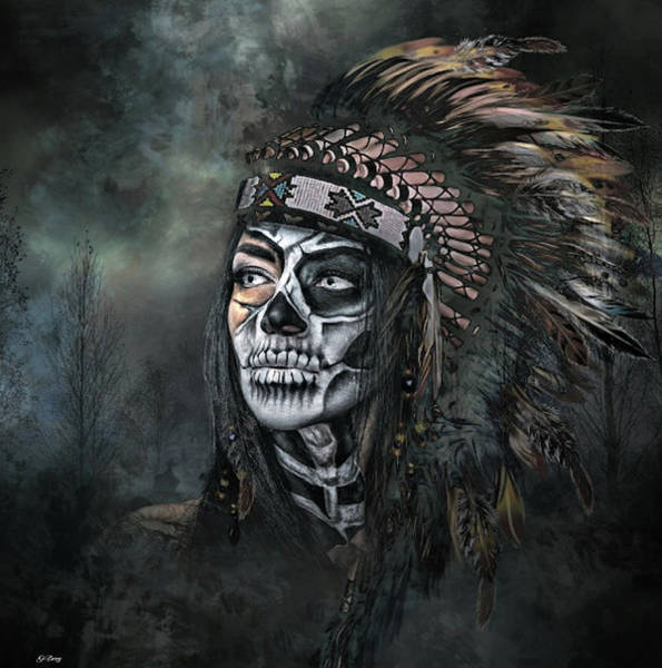 Native Mixed Media -  Ghost Spirit by G Berry