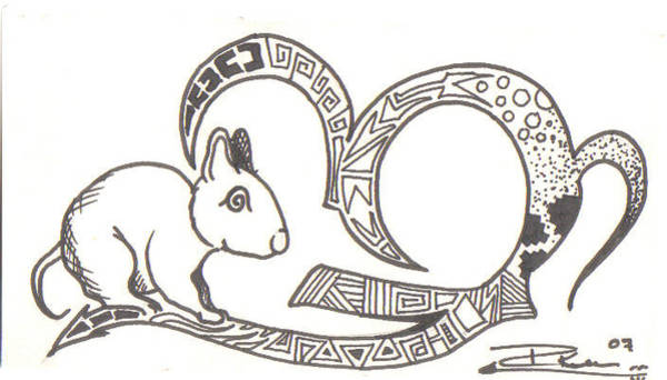 Wall Art - Drawing - Native Mouse by Eric Kee