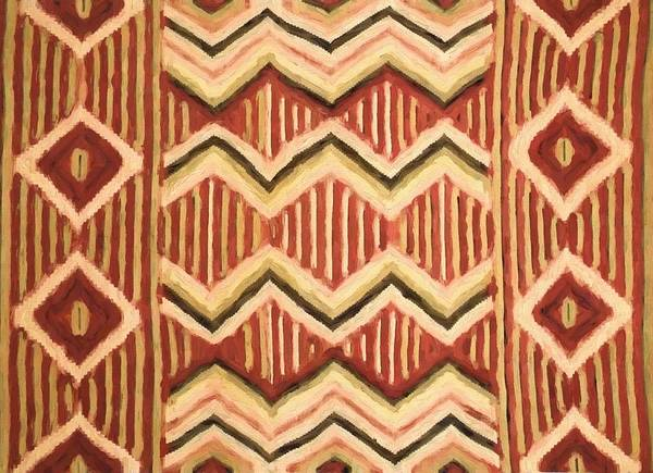 Native American Blanket Painting - Native Pattern by Dan Sproul
