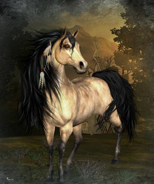 Horse Feathers Digital Art - Native Pride by Ali Oppy