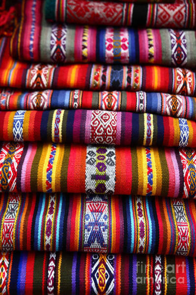Photograph - Native South American Weavings by James Brunker