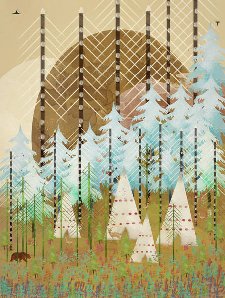 Stag Wall Art - Digital Art - Native Summer by Bri Buckley