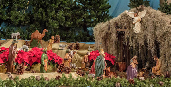 Photograph - Nativity At St Mary by Gregory Daley  MPSA