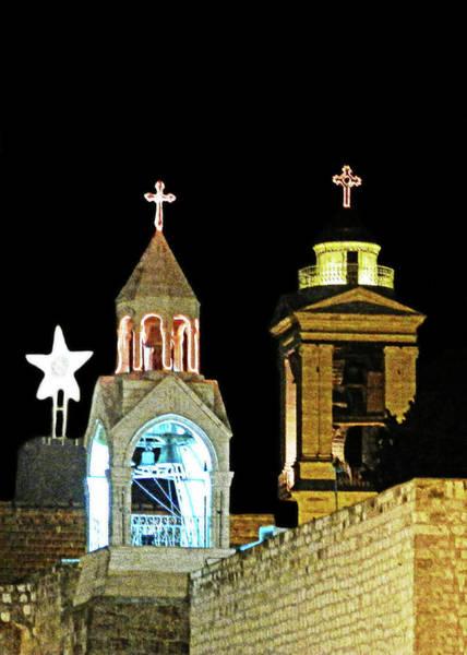 Bethlehem Photograph - Nativity Church Lights by Munir Alawi