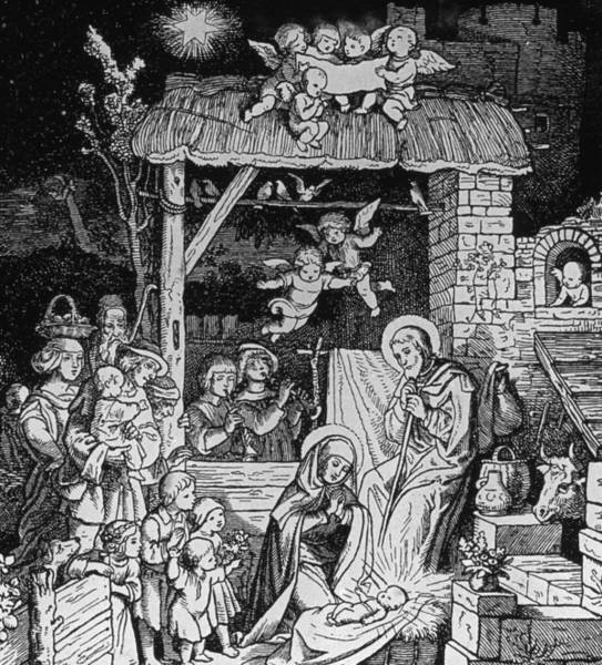 Bethlehem Drawing - Nativity by German School
