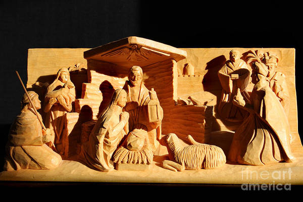 Photograph - Nativity In Shadow By George Wood by Karen Adams