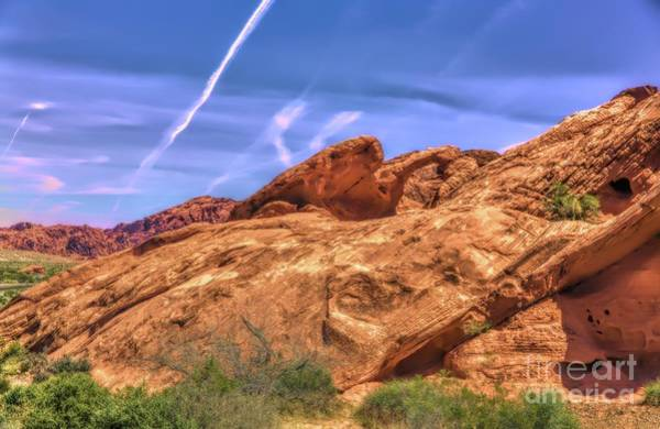 Valley Of Fire State Park Digital Art - Natural Arch Valley Of Fire  by Chuck Kuhn