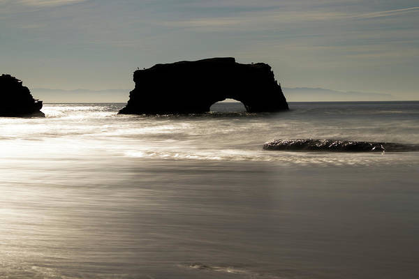 Photograph - Natural Bridges State Beach Water by Wes Jimerson