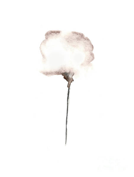 Cotton Painting - Natural Cotton Silhouette Watercolor Painting by Joanna Szmerdt