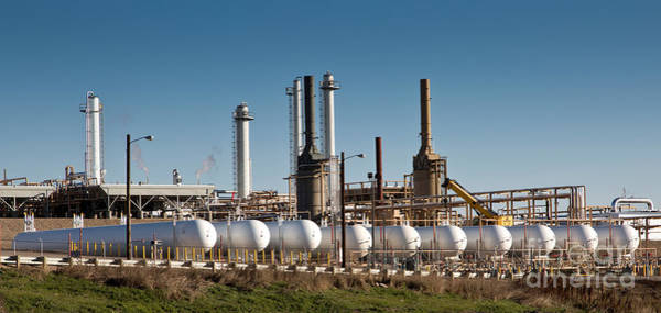 Wall Art - Photograph - Natural Gas Processing Plant by Inga Spence