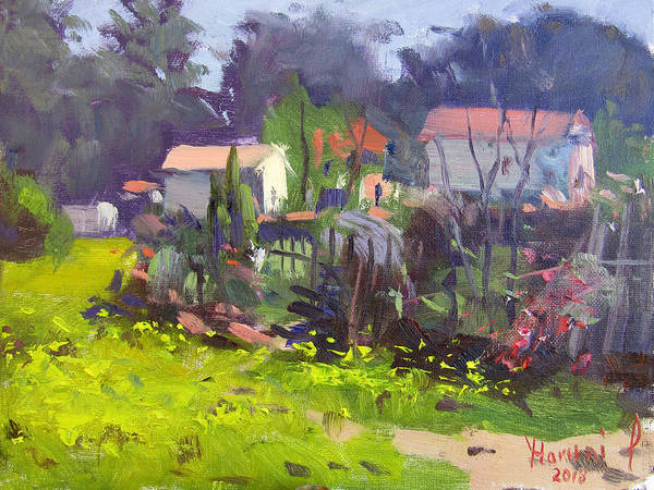 Wall Art - Painting - -natural Spring In Backyard by Ylli Haruni