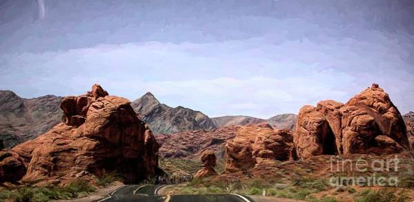 Valley Of Fire State Park Digital Art - Natural Stone Mtns Rock Valley Of Fire  by Chuck Kuhn