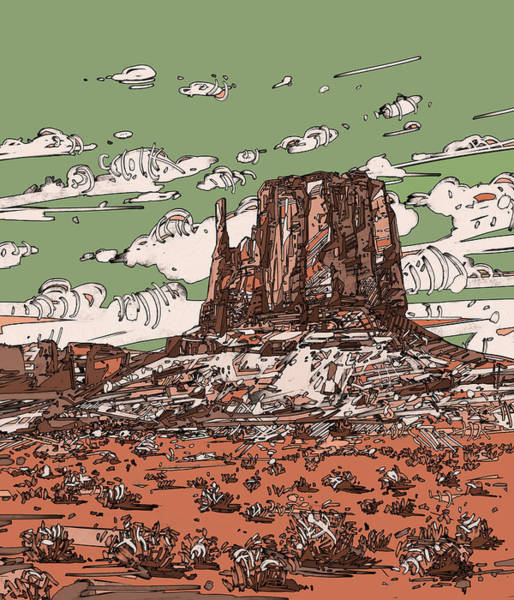 Southwest Digital Art - Nature Monument 2 by Bekim M