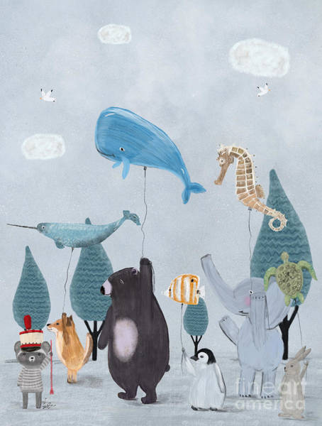 Dreamy Wall Art - Painting - Nature Parade by Bri Buckley