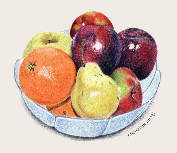 Juicy Drawing - Nature's Candy by Louise Howarth