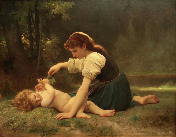 Painting - Natures Fan by Troy CapertonWilliam Adolphe Bouguereau