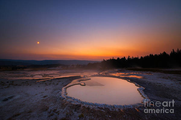 Montana Photograph - Natures Jacuzzi Yellowstone Hot Spring Sunset by Michael Ver Sprill