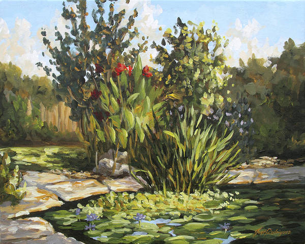 Painting - Natures Water Garden by Jose Rodriguez